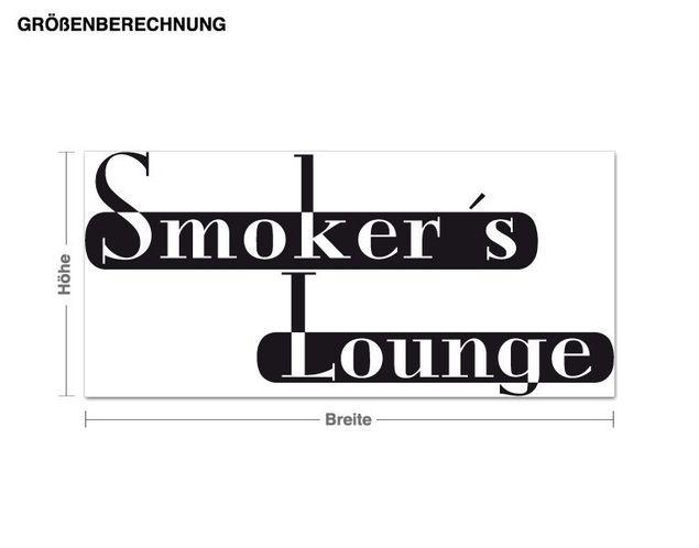 Adesivo murale - sala fumatori