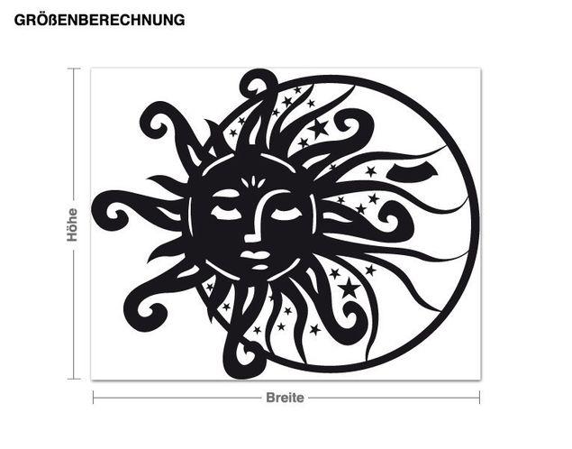 Adesivo murale - Sun & Moon