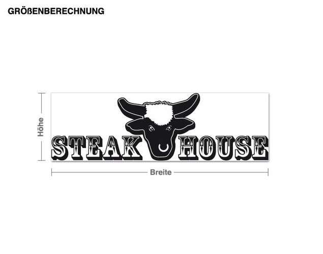 Adesivo murale - Steakhouse