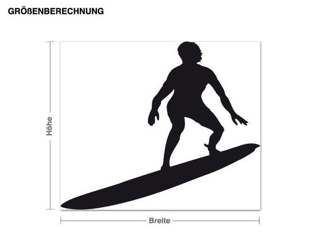 Adesivo murale - surfer