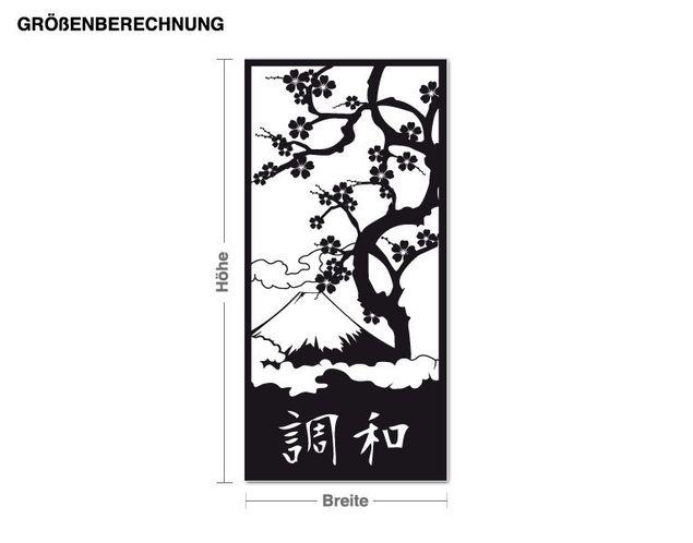 Adesivo murale - l'armonia giapponese