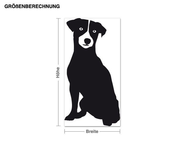 Adesivo murale - terrier