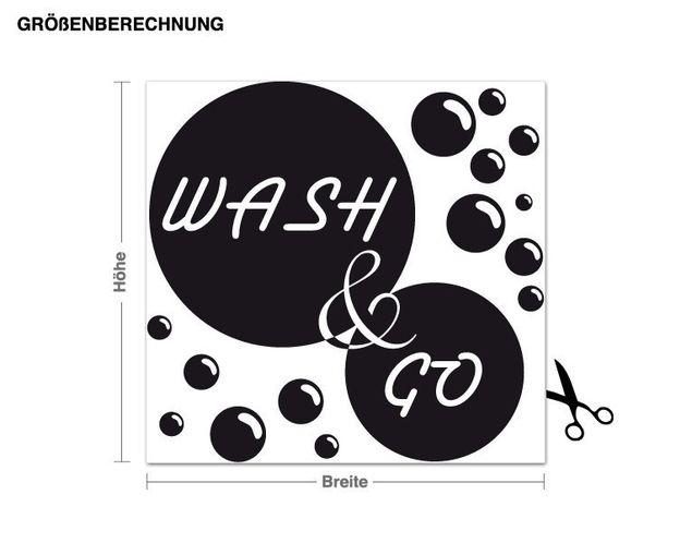 Adesivo murale - Wash & Go