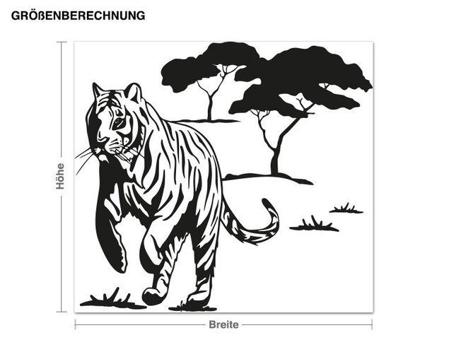 Adesivo murale - Tiger selvaggio