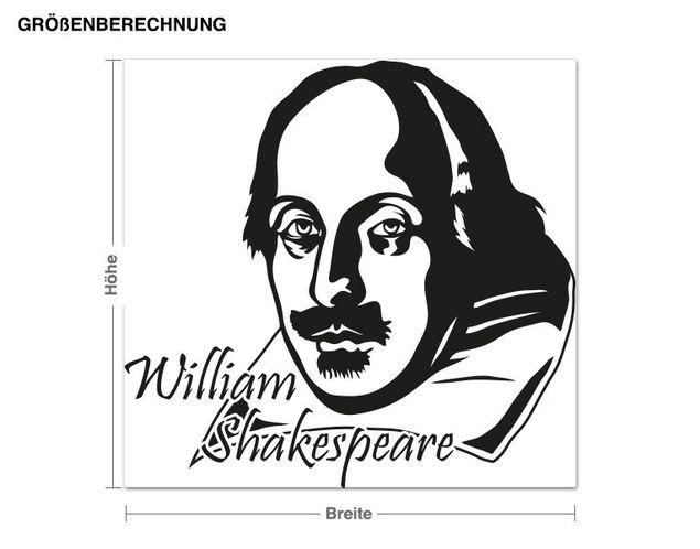 Adesivo murale - William Shakespeare