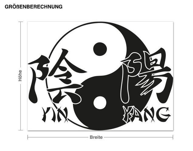 Adesivo murale - segno di Yin Yang