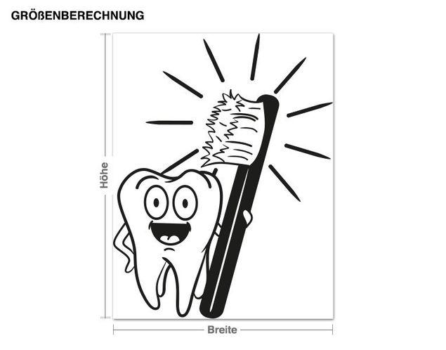 Adesivo murale - spazzola i denti