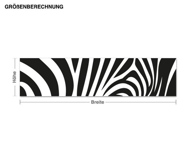 Adesivo murale - zebra