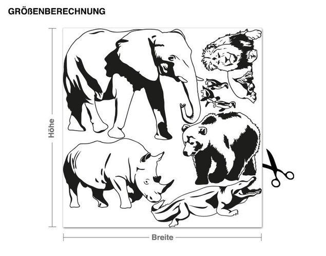 Adesivo murale - zoo Set