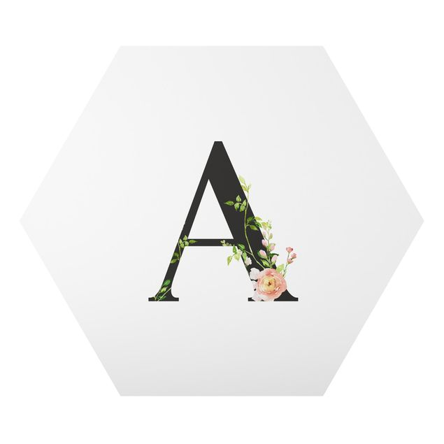 Esagono in forex - Lettera desiderata fiori acquerello
